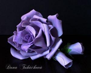 Růže fialová + logo nová