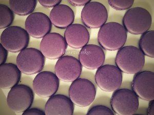 Upečené makronky fialové+logo
