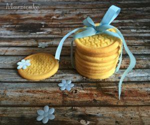 Sušenky vanilkové, maěle modrá+logo