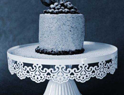 Mini dortík s borůvkami+logo 2 modré