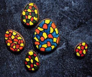 Vajíčka mozajka+logo ve vajíčku výše