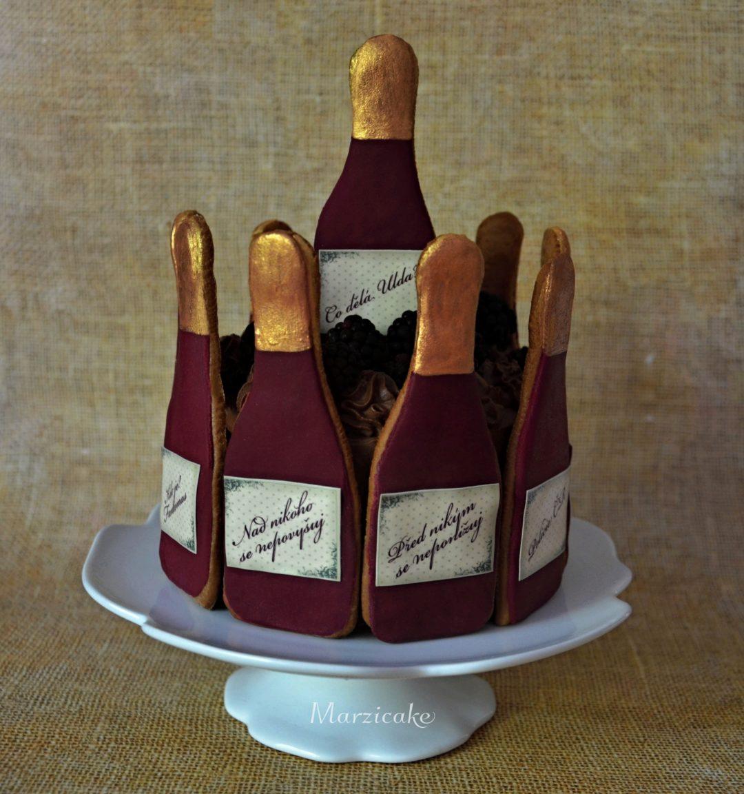 Lahvičky dort+ logo světlejší