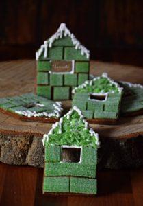 Domky - zelené želé+logo