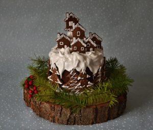 Zimní dort s jehličím 2