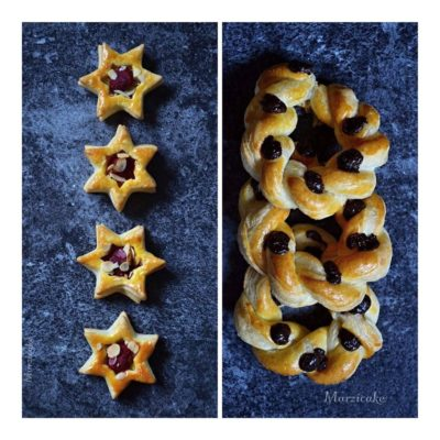 Hvězdičky z listového těsta bez cukru
