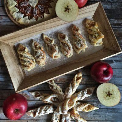 Listové těsto a jablková povidla