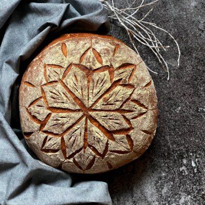 Vánoční chléb ze sušeného kvásku