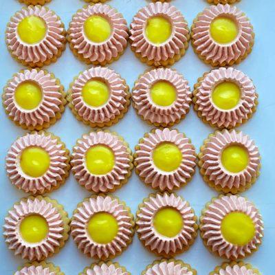 Jahodovo vanilkové kytičky